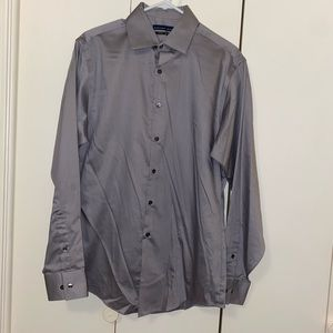 Geoffrey Beene Fitted No Iron Button Down